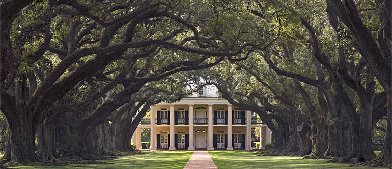 Oak Alley Plantation In Louisiana Between Baton Rouge And